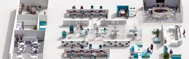 Nowoczesna aranżacja biura – dopasowana i elastyczna
