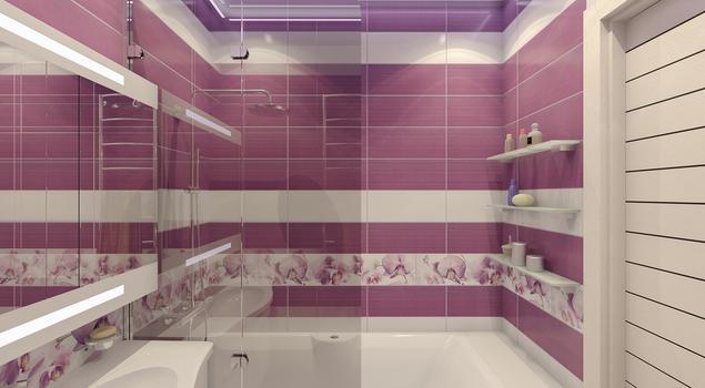 Różowa łazienka - pomysł na łazienkę dla kobiety