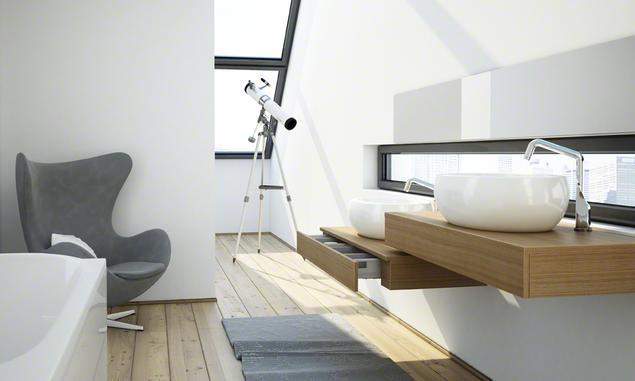 Nowoczesne meble łazienkowe. Aranżacja łazienki w miejskim klimacie