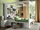 Wiele funkcji jednego łóżka. Aranżacja ciasnej sypialni
