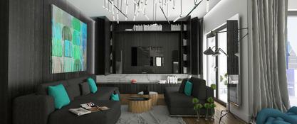 Nowocześnie oświetlone mieszkanie